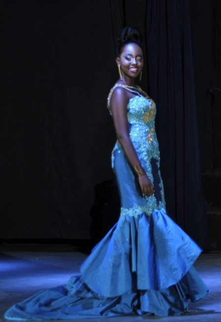 Best Formal Wear Female Reniece Bonnett wearing a Luci-Lu designed gown.