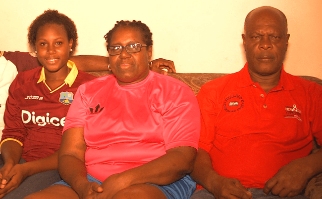 Members of the Brathwaite clan, including sister Chantelle, mother Joycelyn and father Chesterfield.