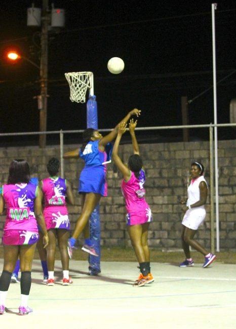 Guardian Group Pride of Villa goalkeeper Faye Sealy had a good game with a number of blocks and steals against Pine Hill St Barnabas' shooters.