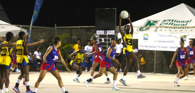 Japhia Lucas did well in the center for Barbados against Bermuda.