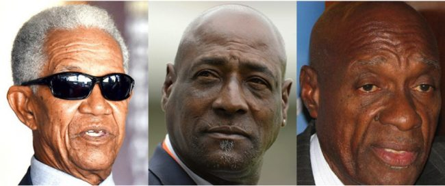 Sir Garry Sobers, Sir Viv Richards & Sir Wes Hall