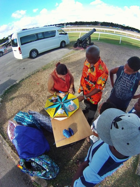 Kite signing at The Garrison  Sunday afternoon.