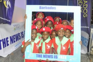 The Barbados TODAY selfie board was a big hit with these little blossoms.