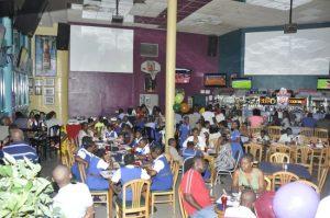 Scores flocked to Bubbas Sports Bar to celebrate.