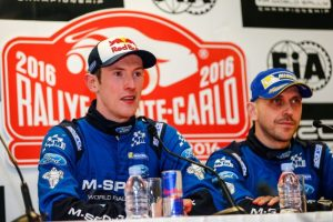 Elfyn Evans (left) and Craig Parry