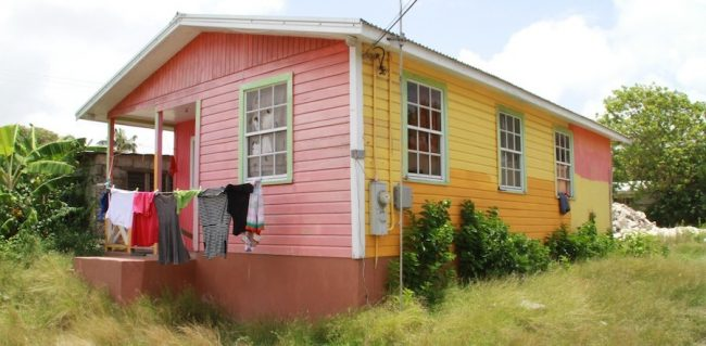 The house at Massiah Street, St John where 76-year-old Harriet Codrington lives with her caretaker.