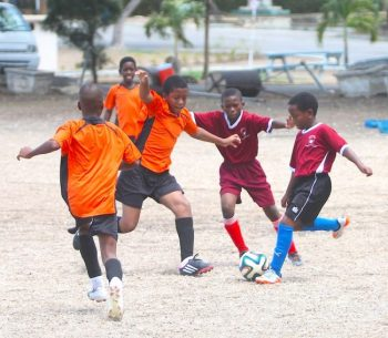 It was a keen match-up between Blackman and Gollop Primary and Hilda Skeene Primary which the former (in orange and black) won.