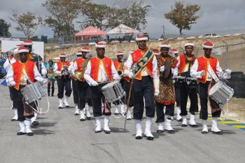 The Zouave Band of the Barbados Defence Force added to the occasion.