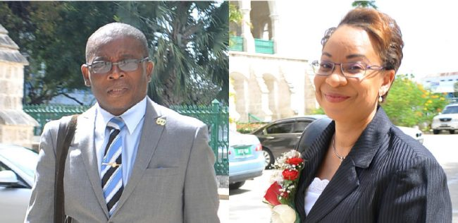 Minister of Housing and Lands Denis Kellman & Dr Maria Agard