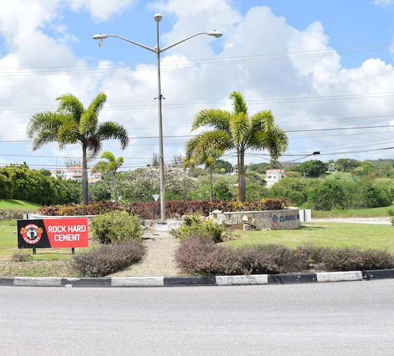It was around 9 a.m. when members of the state-sponsored demolition squad arrived at Lears, St Michael this morning to remove the chattel house structure in the middle of the roundabout.