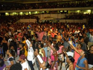 Thousands in worship at last Saturday's Courts Ultimate Gospel concert at Kensington Oval.