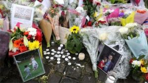 Flowers and tributes laid to Jo Cox