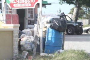 A worker of Jac's Pizza in Checker Hall, St Lucy, said even though there was garbage in front of the restaurant it was collected every Tuesday and Thursday by the SSA.