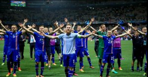Iceland celebrate a famous victory that put England out of Euro 2016.