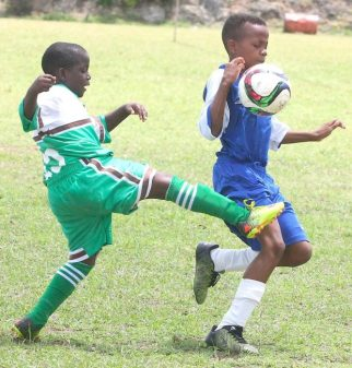 Malique Hood did well in his role as last man for Ignatius Byer Primary and Kadane Archer of Deacons Primary got a taste of it.