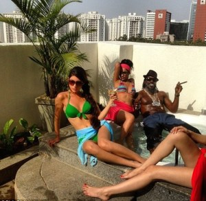 Chris Gayle during some leisure time.