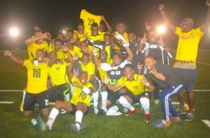 University of the West Indies Blackbirds created history by capturing their first ever Barbados Football Association Premier League title. (Picture by Morissa Lindsay)
