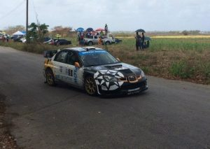 Roger Skeete and Louis Venezia finished second in the rally.