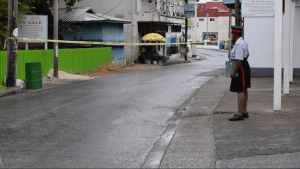 The Church Street, Speightstown area where the 30-year-old man was shot and injured this morning.