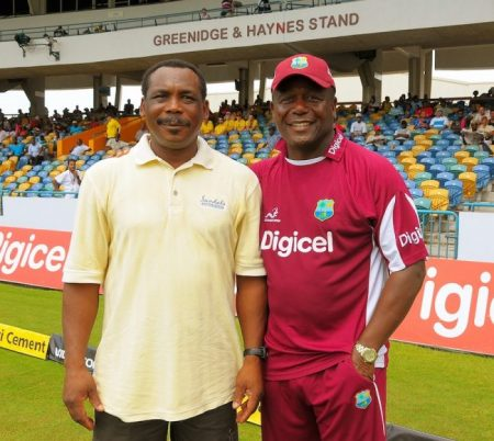 The dynamic duo of Gordon Greenidge and Desmond Haynes after whom a stand is named in their honour at Kensington Oval.