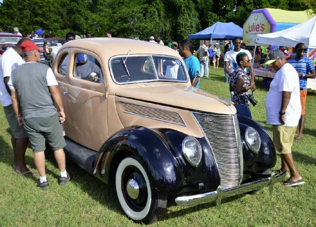 This 1937 Ford Coupe, previously owned by Andrew Bynoe, was auctioned for Bds$50 000.