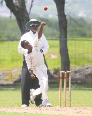 Combermere spin bowler Shayon Blenman took four wickets in the second innings. (Pictures by Morissa Lindsay)