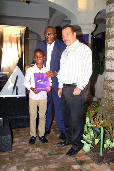 Nine-year old Jayden Greenidge of St. Cyprians Boys sat the exam two years early and will be attending Harrison College in September. .