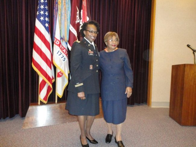 Colonel Sawyer with her mother Vida Miller back in 2010.