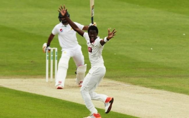 Jofra Archer appeals for the wicket of Mohammad Hafeez today.(Telegraph)