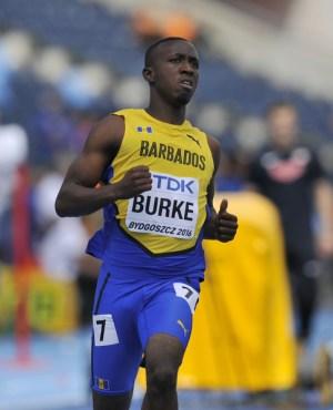 Mario Burke advanced to tomorrow's semi-final.