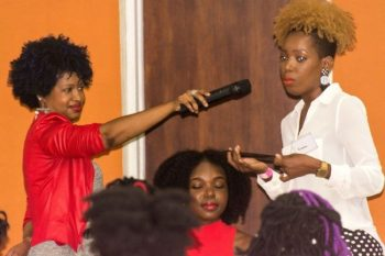 The presentation by Braider Krishtun at Curls Nite Out Summer Edition.
