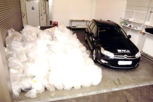 The seized cocaine had an estimated potential street value of £512 million.