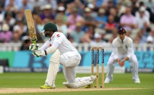 Azhar Ali on the drive during his century.