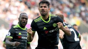 Diego Costa and Chelsea looking to dominate Arsenal tomorrow.