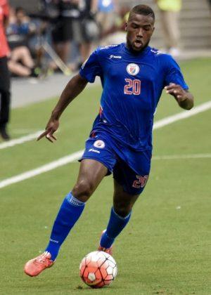 Duckens Nazon scored for Haiti.