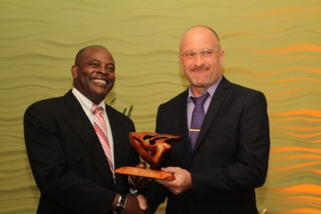 Managing Director of NPURE Neil Corbin copped the President's Award.