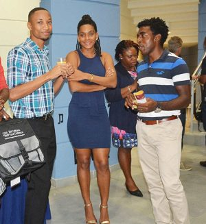 Student athletes (left to right) Germain Hughes, Rikiesha Leveret and Trey Hart.