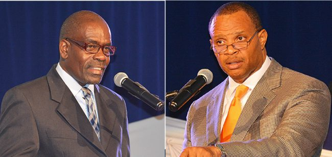 BET Credit Union President Michael Alleyne & Minister of Finance Chris Sinckler