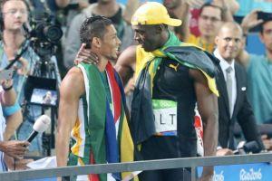 Wayde van Niekerk (l) and Usain Bolt.
