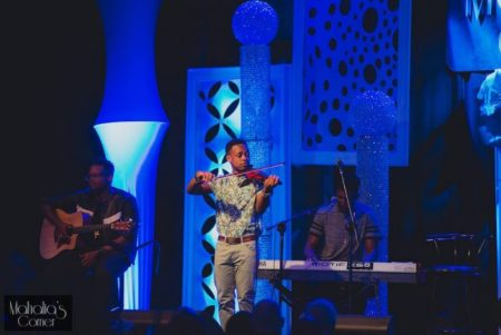 Wesley Morris (second from left) performing.