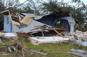 The remains of a home in Lowe Sound, Andros after Hurricane Matthew.
