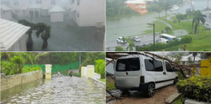 Heavy flooding and infrastructural damage was reported in several parts of the island.