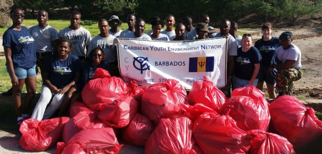 Members of the Barbados Defence Force also assisted in the cleanup on Saturday.