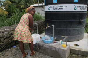 Chimbarazo resident Tina Drake says she can only use the water from the community tanks for household chores.