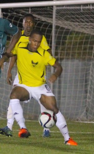 Jomo Harris scored twice for St Michael North. (FP)