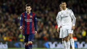Maradona says there is no difference in ability betwen Lionel Messi (left) and Cristiano Ronaldo (right).