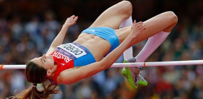 Russian high jumper Anna Chicherova.