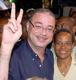 David Thompson and wife Mara.