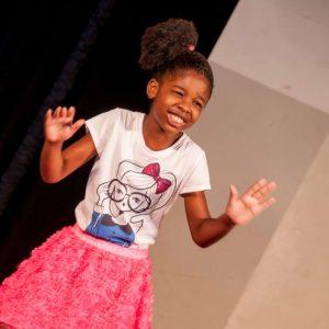 Little Sanaiya Brathwaithe was excellent with her piece Who Am I.