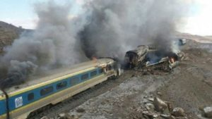 At least 35 people have been killed and dozens more injured in a train collision in northern Iran.